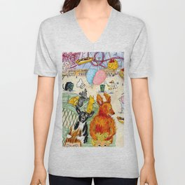 The Dogs Take Over Coney Island Unisex V-Neck