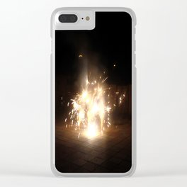 Fire work Clear iPhone Case