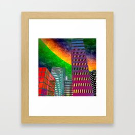 the colored city -2- Framed Art Print