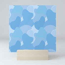 Abstract blue seamless pattern #1 Mini Art Print