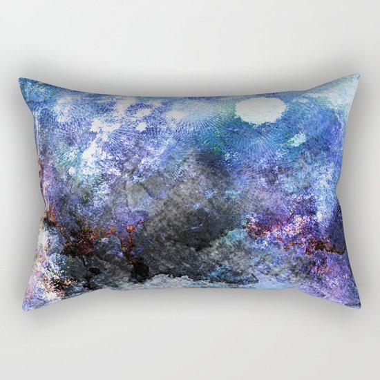 Winter Night Orchard Rectangular Pillow