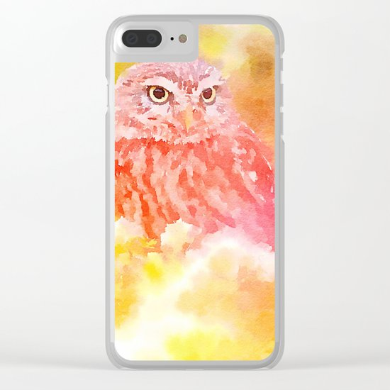Soft Owl Clear iPhone Case
