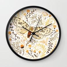 Giant Leopard Moth Wall Clock