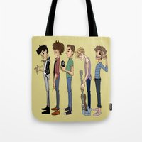 cargline Tote Bags featuring Another 1D poster by cargline