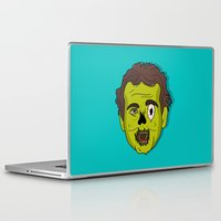 murray Laptop & iPad Skins featuring ZomBill Murray by Chelsea Herrick