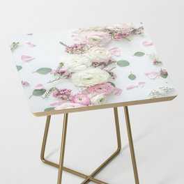 SPRING FLOWERS WHITE & PINK Side Table