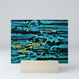 Clouds over Turbulent Waters - Abstract with Rice Paper Mini Art Print