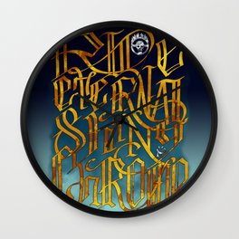 Ride Eternal Shiny & Chrome Wall Clock