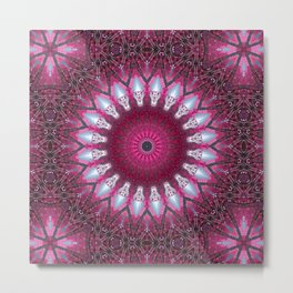 Kaleidoscope pink colors. Metal Print