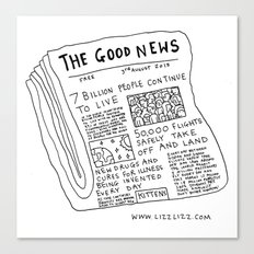 Good News! Canvas Print