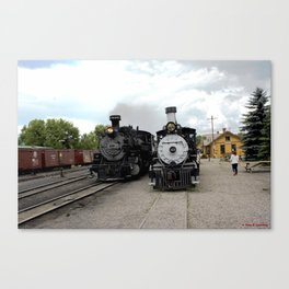 In the Passing Lane at Chama Depot Canvas Print