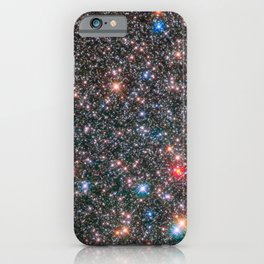 Glittering Milky Way Galaxy Bulge Telescopic Long Range Photograph iPhone Case