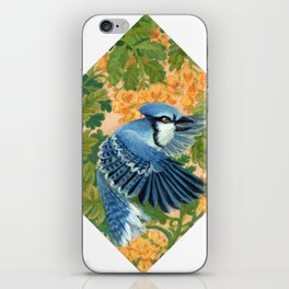 Autumn Song: Blue Jay and Cassia iPhone Skin