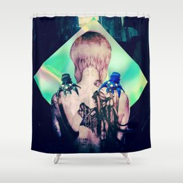 ghost in the shell tribute: 25th anniversary  Shower Curtain