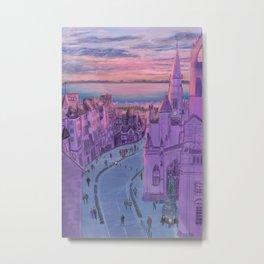 Edinburgh Sunset Metal Print