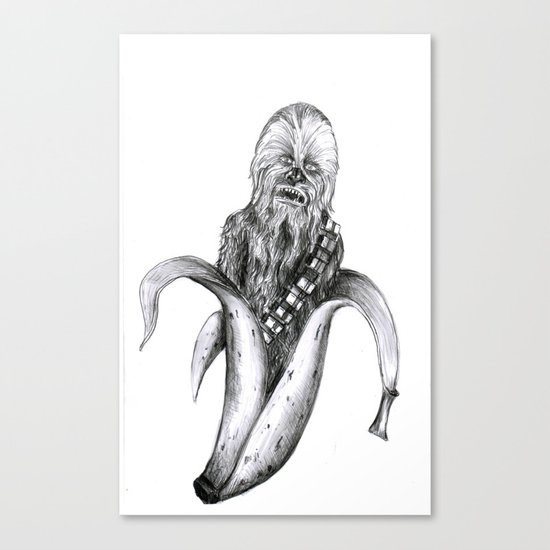 Chewbacca banana Canvas Print
