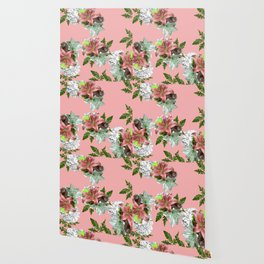 LILY PINK AND WHITE FLOWER Wallpaper