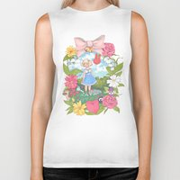 animal crossing Biker Tanks featuring Animal Crossing by Julia Marshall