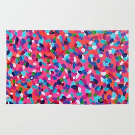 Pink Dreams Abstract Painting Rug