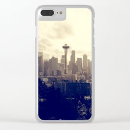 Seattle Sky Clear iPhone Case