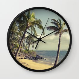 Maui Lu Beach Kihei Maui Hawaii Wall Clock