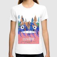 hayao miyazaki T-shirts featuring Poster Toto ro (Miyazaki) by Mariano F. Hernandez