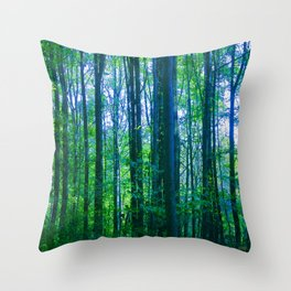 Afternoon Forest Throw Pillow