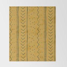 Moroccan Stripe in Mustard Yellow Decke