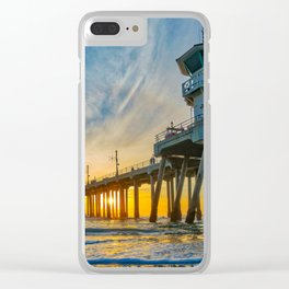 Sentinel at Sunset Clear iPhone Case