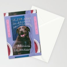 dog knows best Stationery Cards
