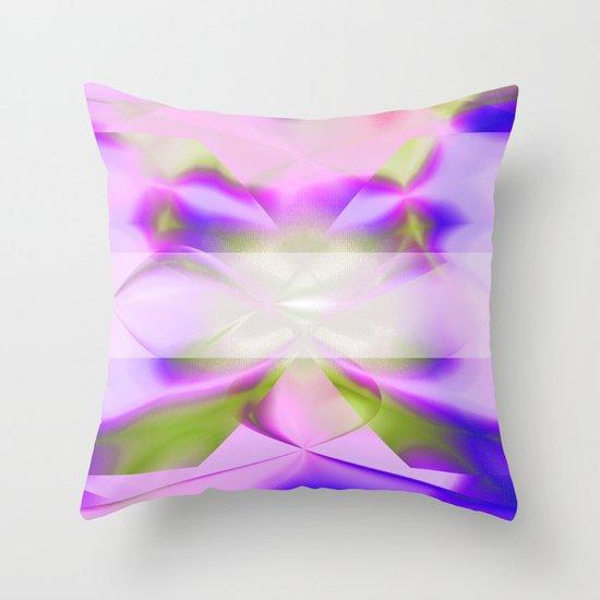 Purple Iris Abstract Throw Pillow