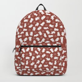 Ditsy Goat Marsala Backpack