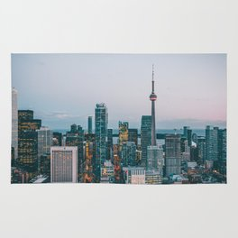 Toronot Ontario Canada Skyline and CN Tower Rug
