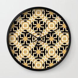 Gold Foil Art Deco Geometric Wall Clock