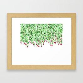 Trumpet Flowers hanging Down Framed Art Print