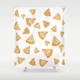 Pizza Crazy Shower Curtain