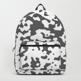 Spots - White and Dark Gray Backpack