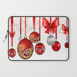 ORNATE HANGING RED CHISTMAS TREE DECORATIONS Laptop Sleeve