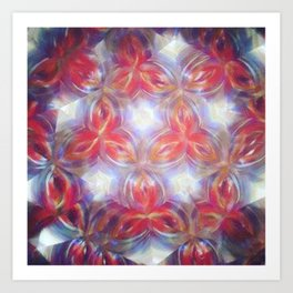 Kaleidoscope flower Art Print