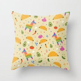 Taco Fiesta Throw Pillow