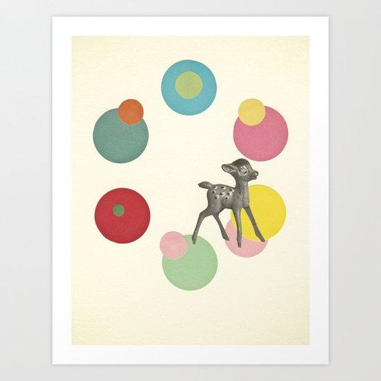 Go Bambi! Art Print