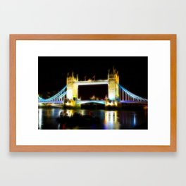 Tower Bridge Abstract Framed Art Print