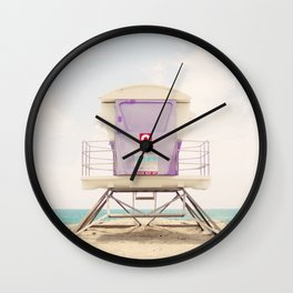 Lifeguard Tower 2  Wall Clock