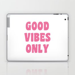 Good Vibes Only in Pink Retro Lettering Laptop & iPad Skin