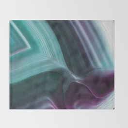 Orchid fold agate Throw Blanket