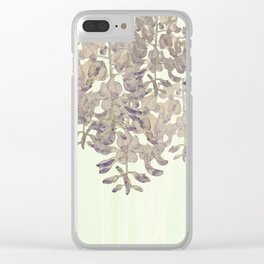 Wisteria - a thing of beauty is a joy forever Clear iPhone Case