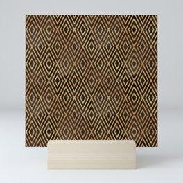 Black and Gold Abstract Mini Art Print