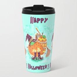 Halloween design with green background Travel Mug