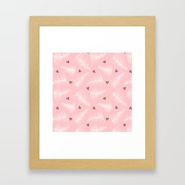 Fronds & Berries on Dusty Pink Framed Art Print