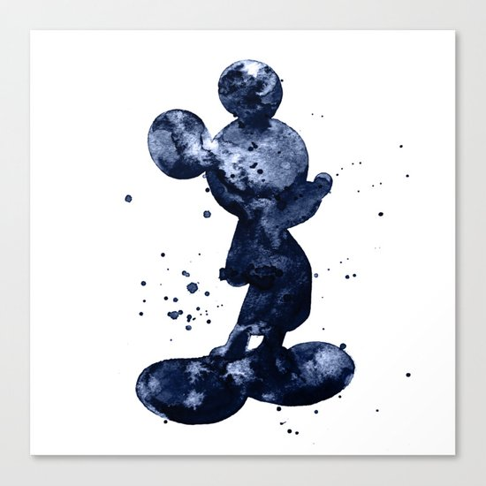 Mickey Mouse dark blue Canvas Print